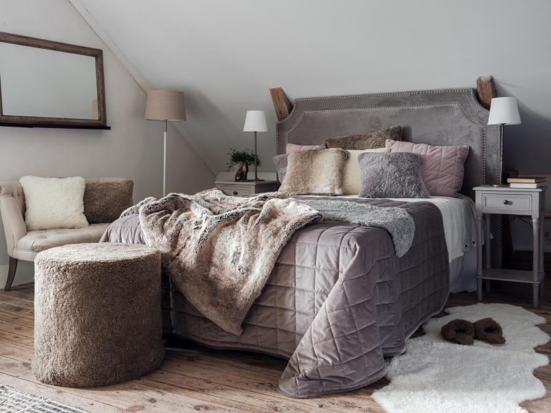 Cozy Decke - Natürlich Melange