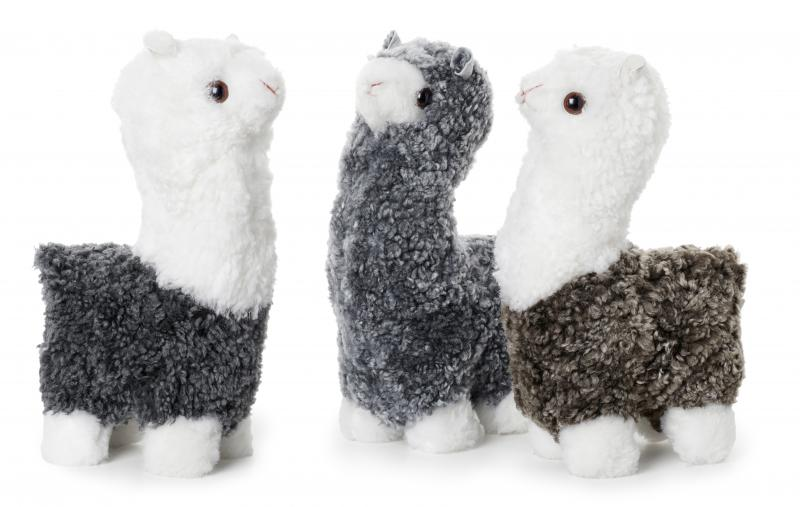 Curly Alpaca - Charcoal/White