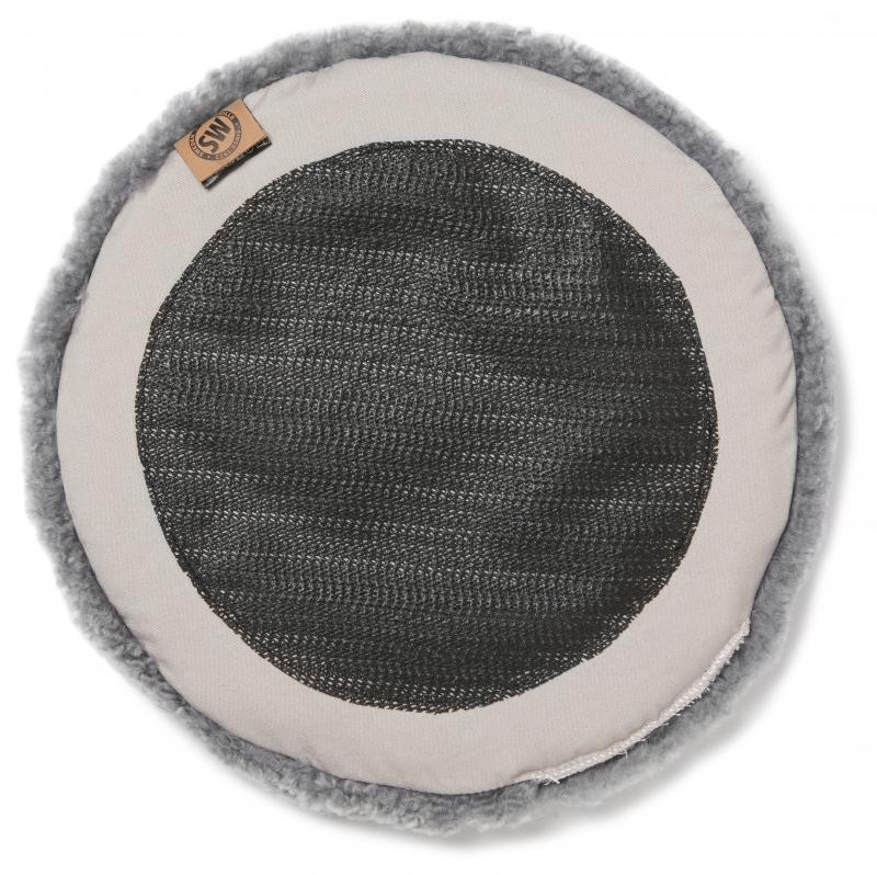 Curly Pad 34Ø - Natural Grey