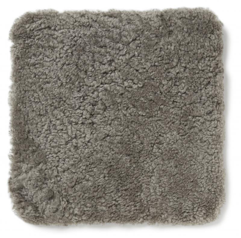 Curly Pad 40x40 - Natural grey