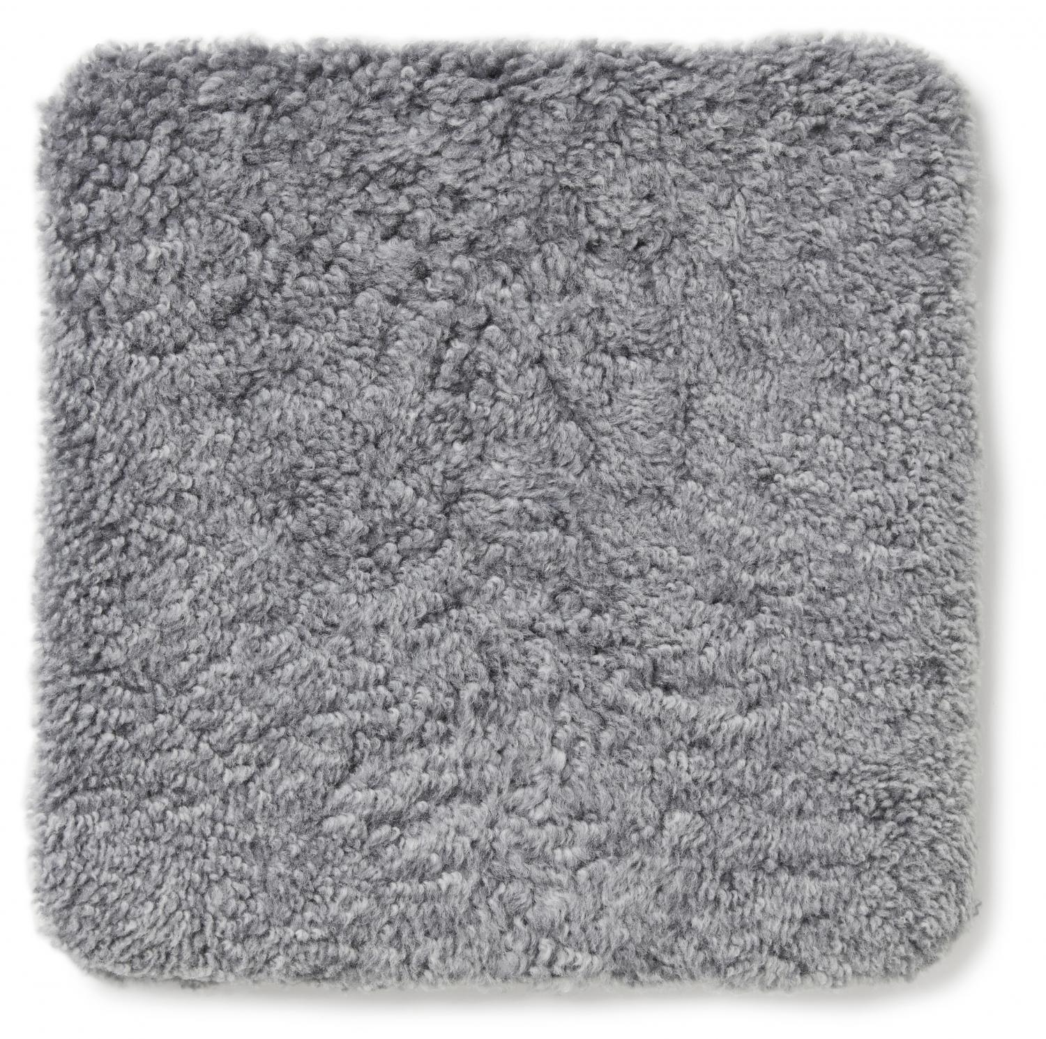 Curly Pad 40x40 - Charcoal Silvergrey
