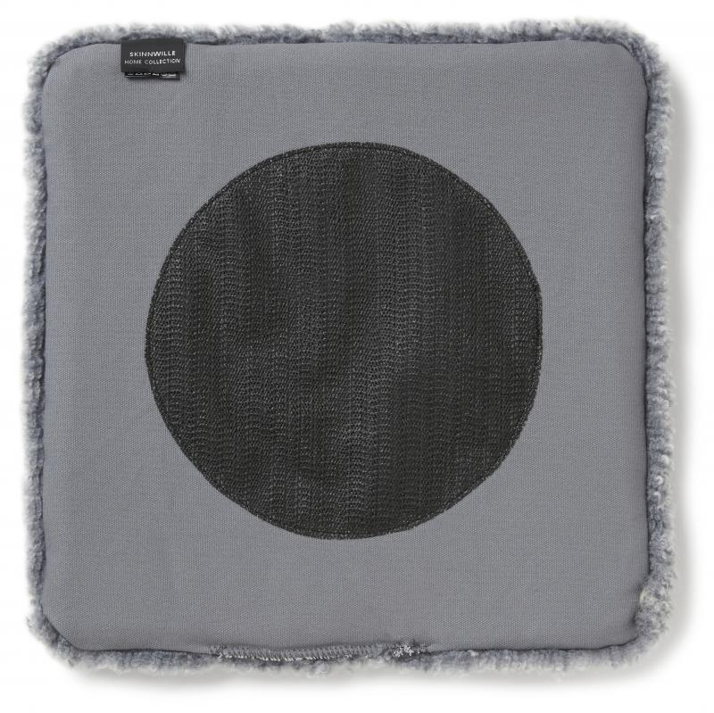 Curly Stuhlkissen 40x40 - Charcoal Silbergrau