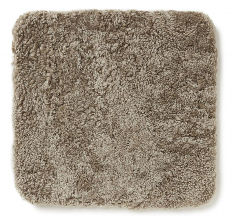 Curly Pad 40x40 - Light Brown