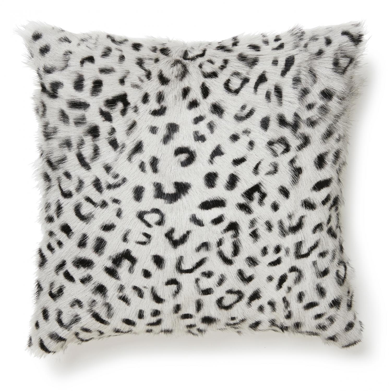 Goaty Cushion cover Goatskin - Leopard Grey