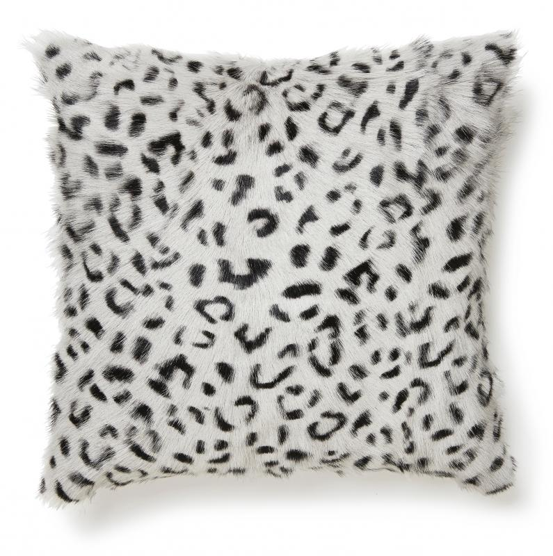 Goaty Cushion cover Goatskin - Leopard Grey