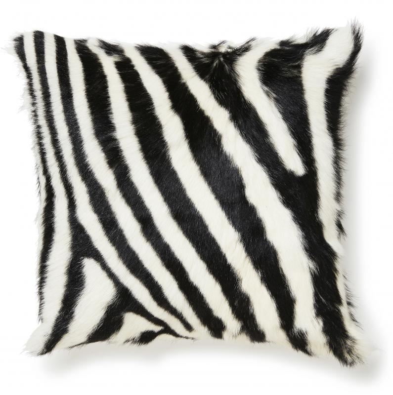 Goaty Cushion cover Goatskin - Zebra