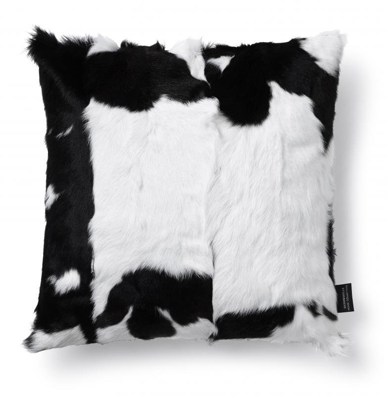 Goaty Cushion cover Goatskin - Black/White