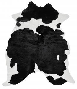 Wille Kuhfellteppich - Schwarz/Weiß