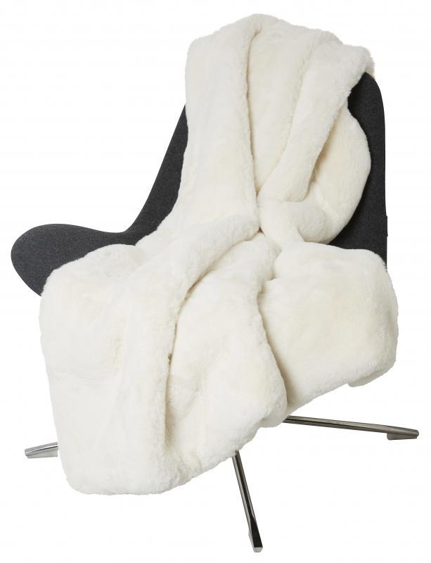 Fluffy Decke - Weiß (Ivory)
