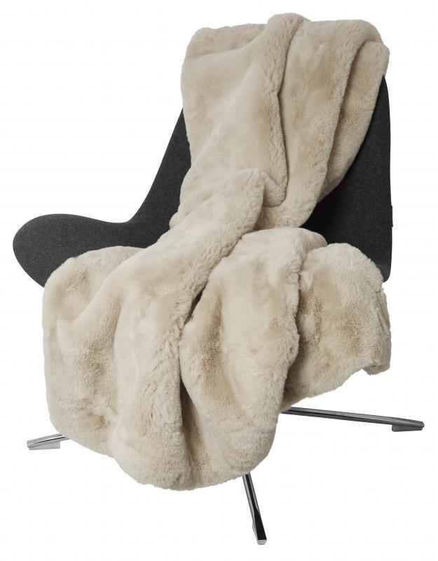 Fluffy Pläd - Beige