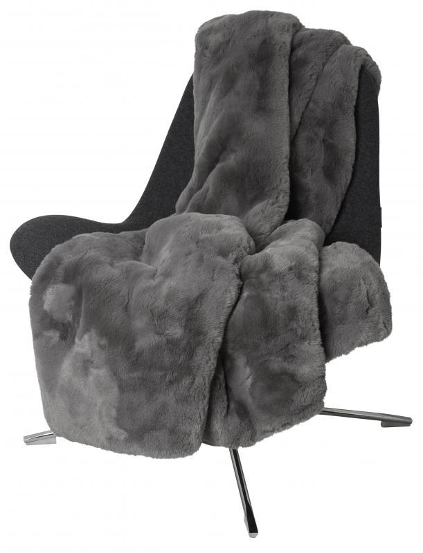 Fluffy Decke - Grau