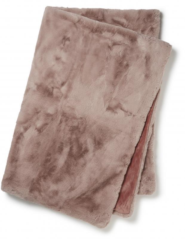Fluffy Decke - Rosa