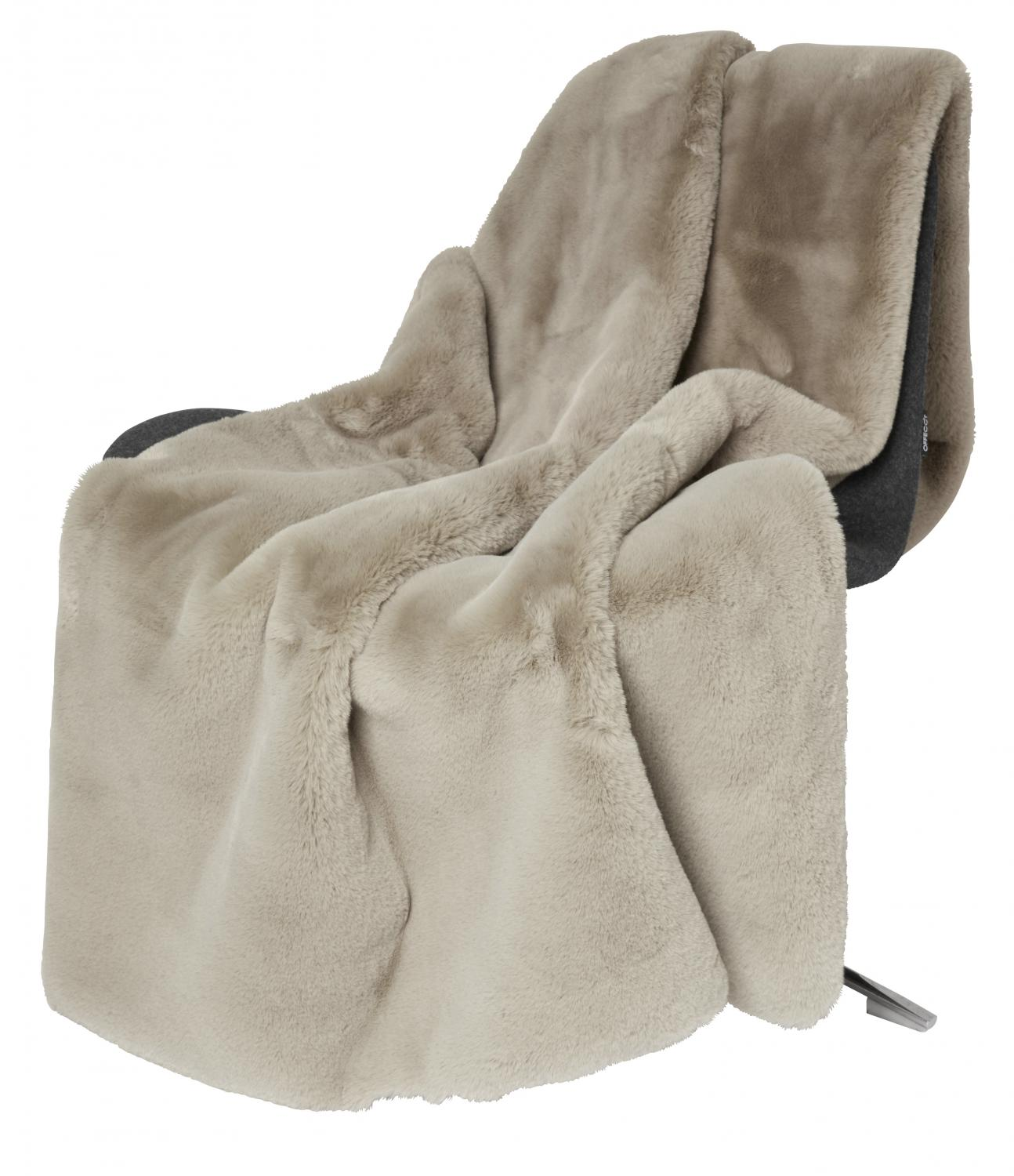 Fluffy Blanket - Taupe
