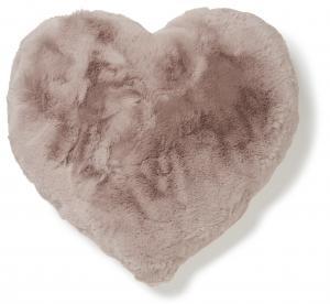 Fluffy Hjärtformad Kudde - Rosa