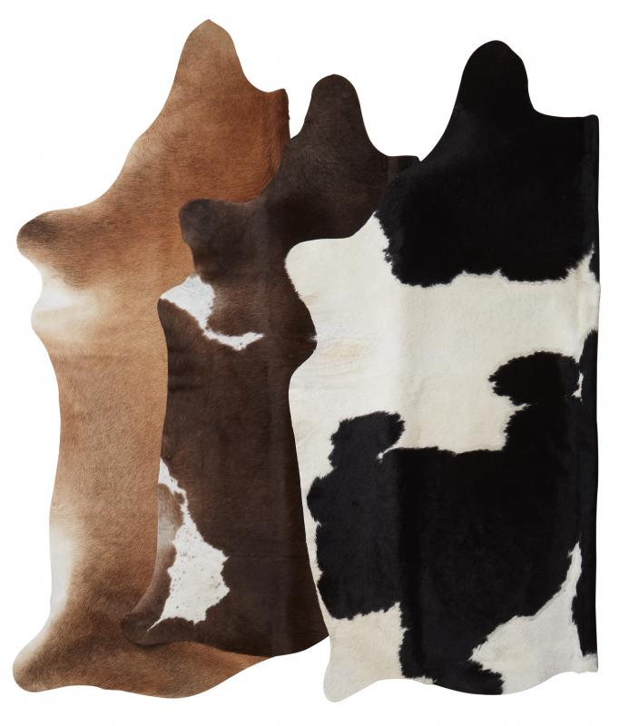 Tilda Cowhide Carpet S - Natural colors