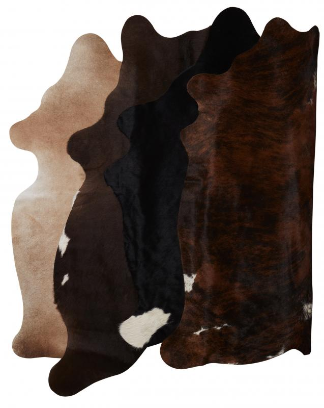 Tilda Cowhides Carpet XS - Natural colors