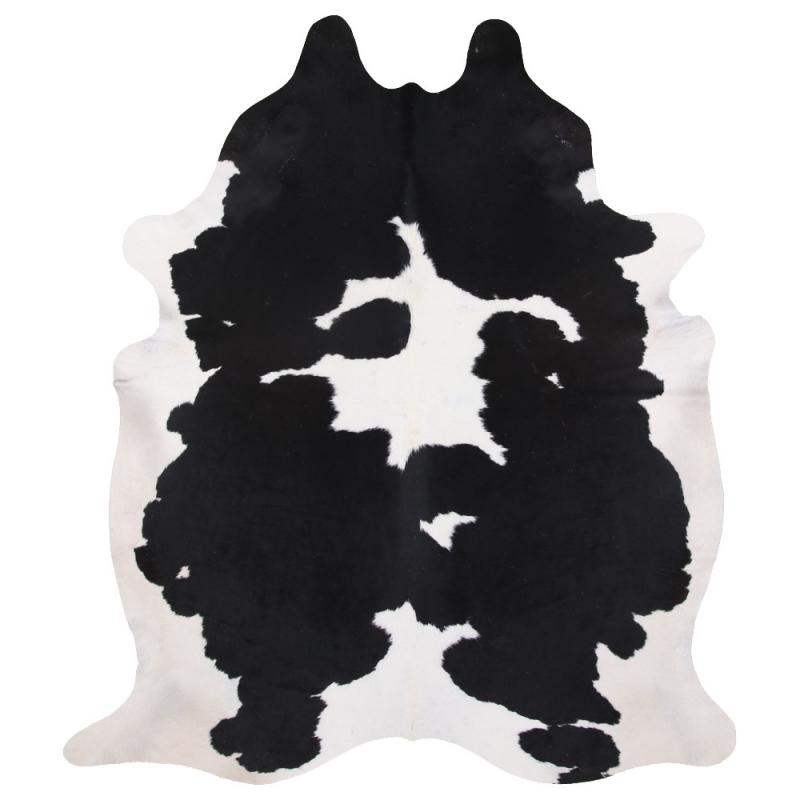 Clara Cowhide Carpet L - Black/White