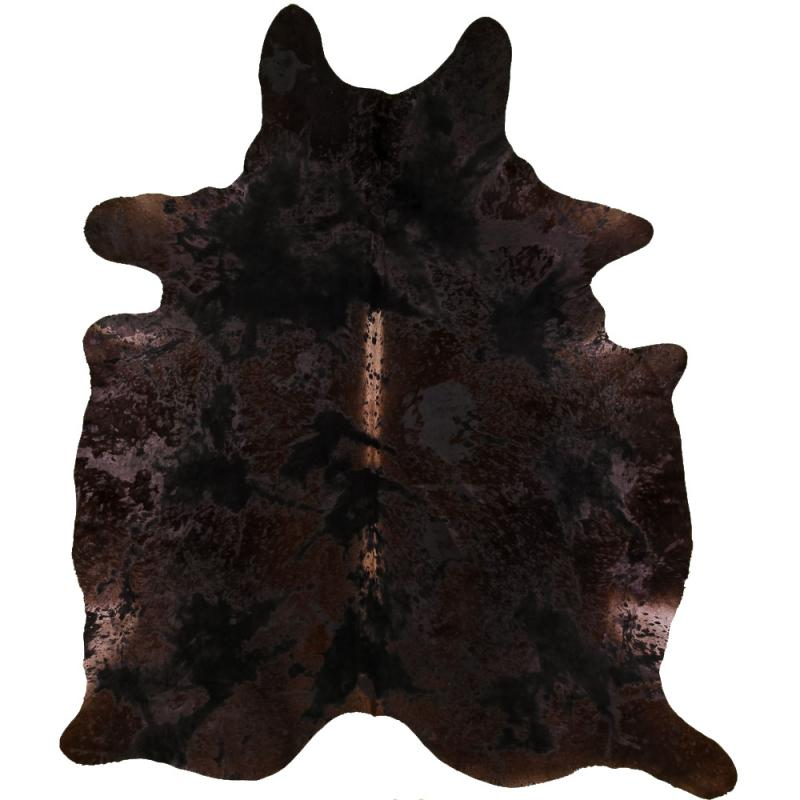 Vintage Cowhide Carpet L - Vintage Black