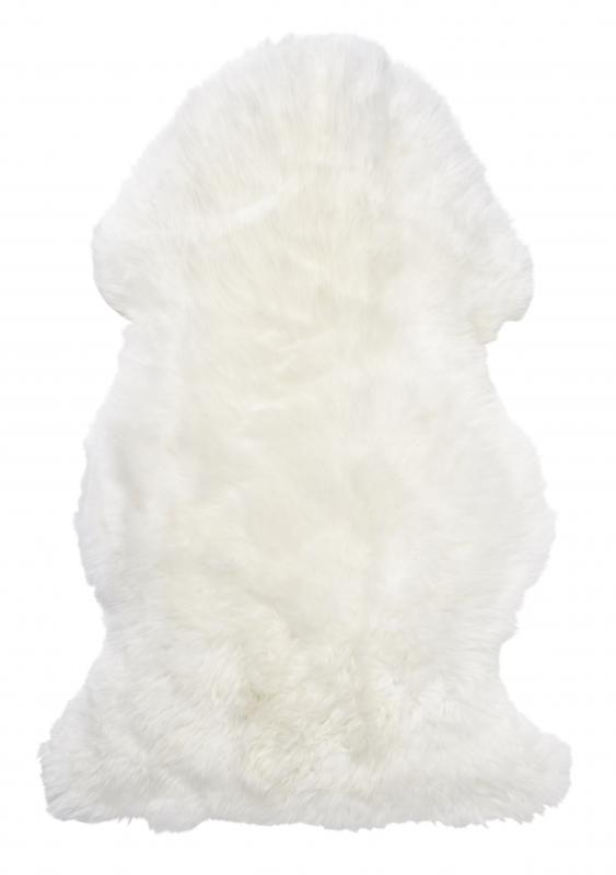 Gently rug. Sheepskin - White