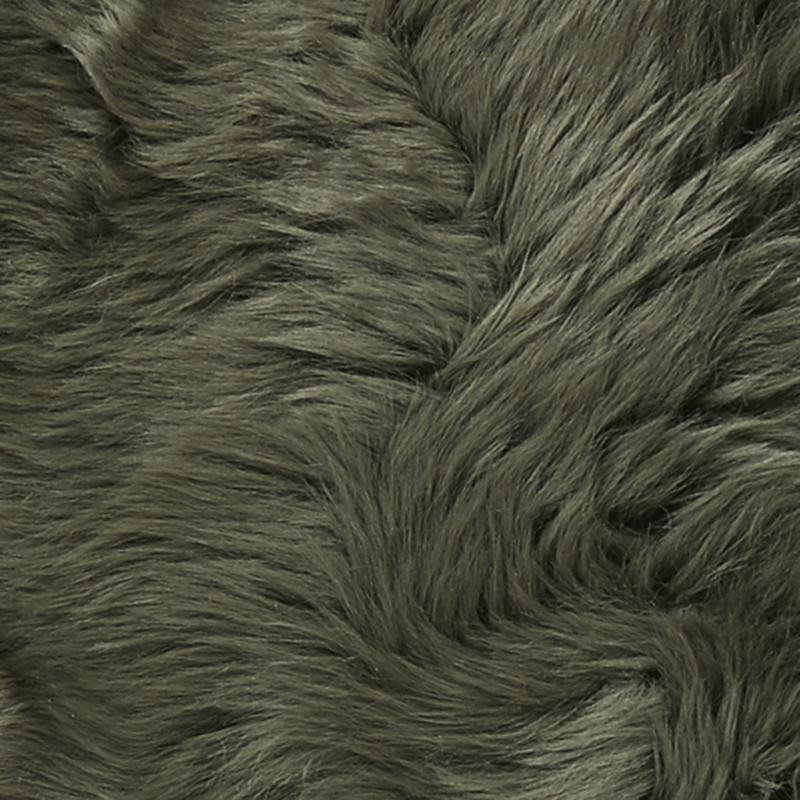 Gently rug. Sheepskin - Dark Green