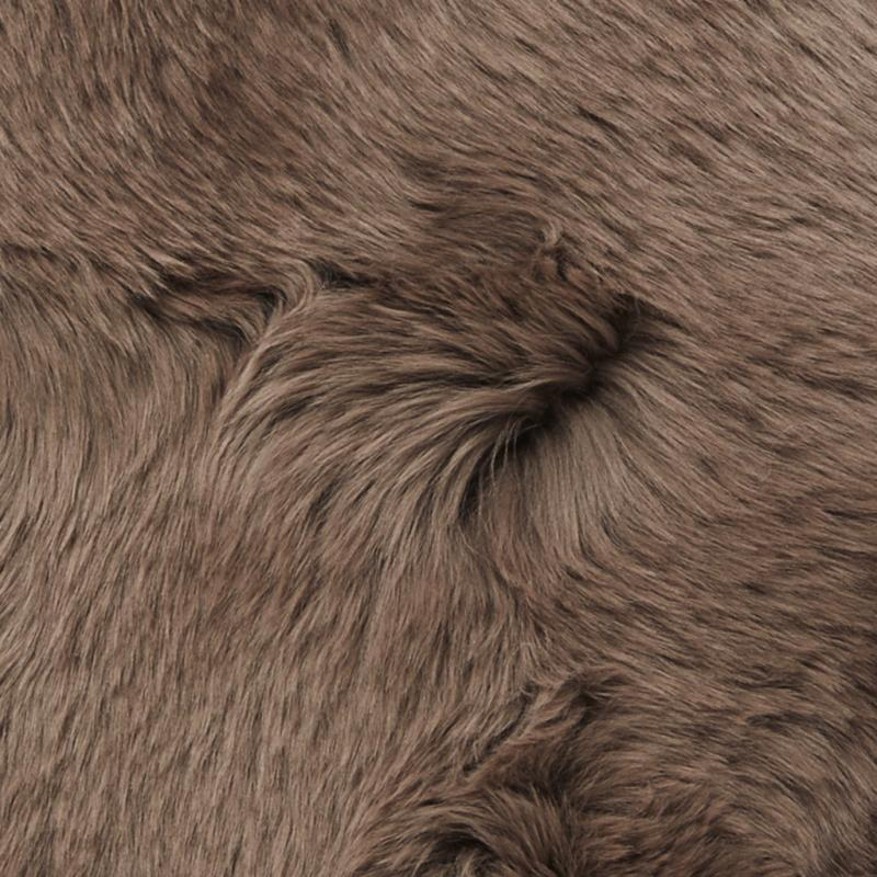 Gently rug. Sheepskin - Dark Beige