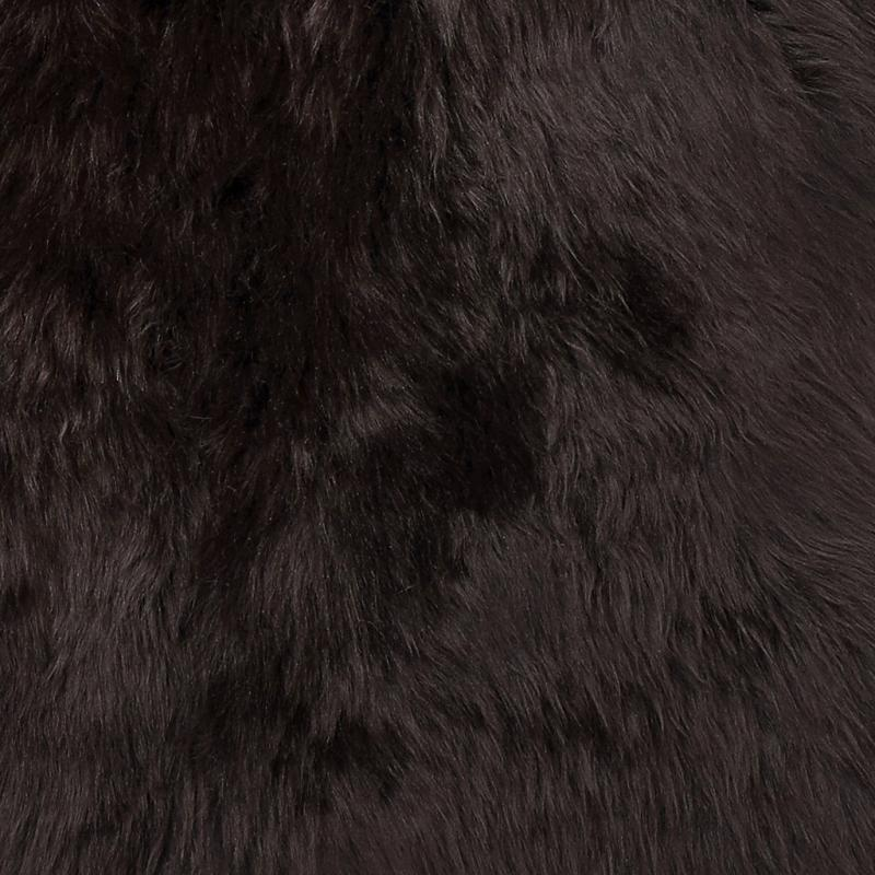 Gently rug. Sheepskin - Dark Brown