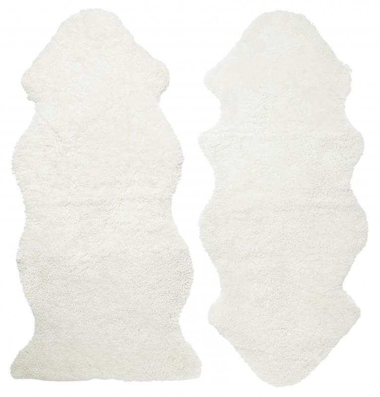 Curly 1.5 Sheepskin - White