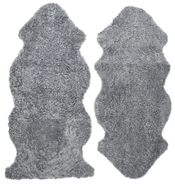 Curly 1.5 Fårskinn - Charcoal Silvergrå