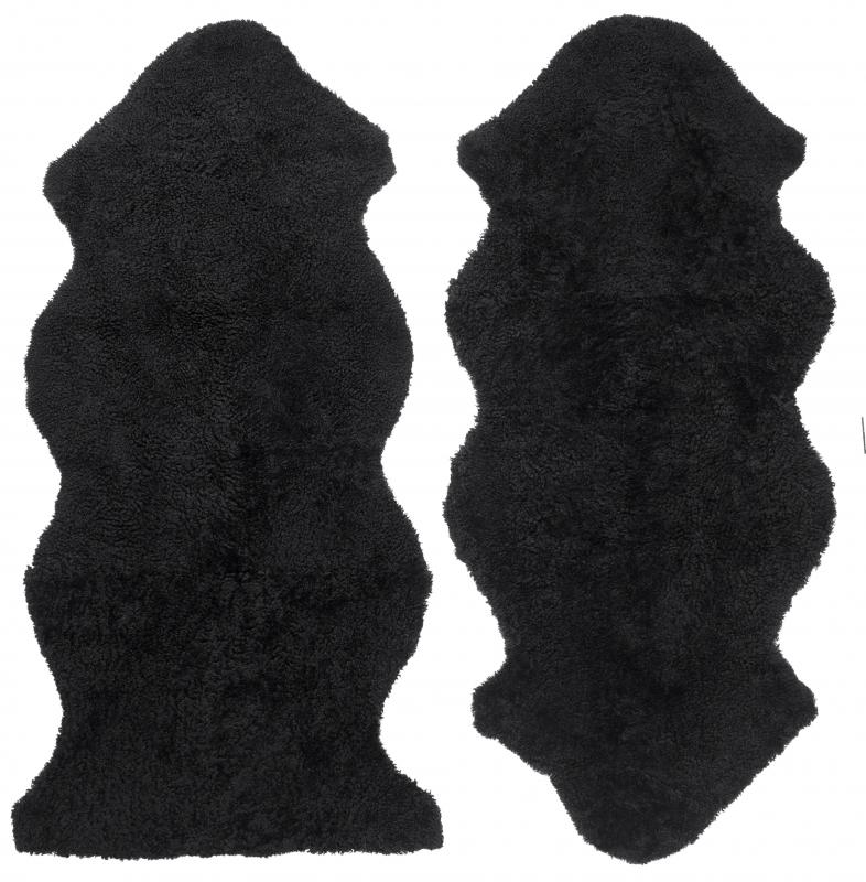 Curly 1.5 Sheepskin - Black