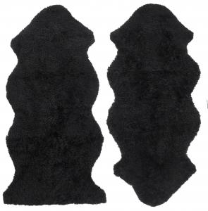 Curly 1.5 Sheepskin - Black