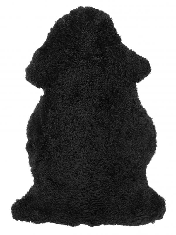 Curly rug. Sheepskin - Black