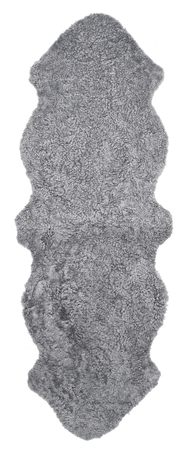 Curly Double Sheepskin - Charcoal Silvergrey