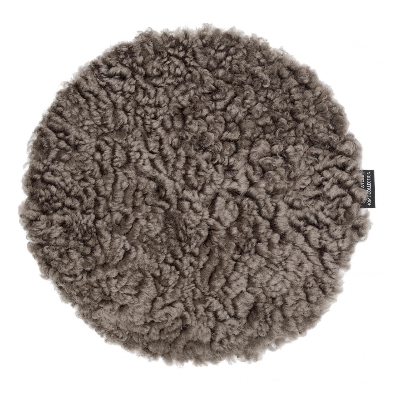 Curly Seat pad 34Ø - Light Brown
