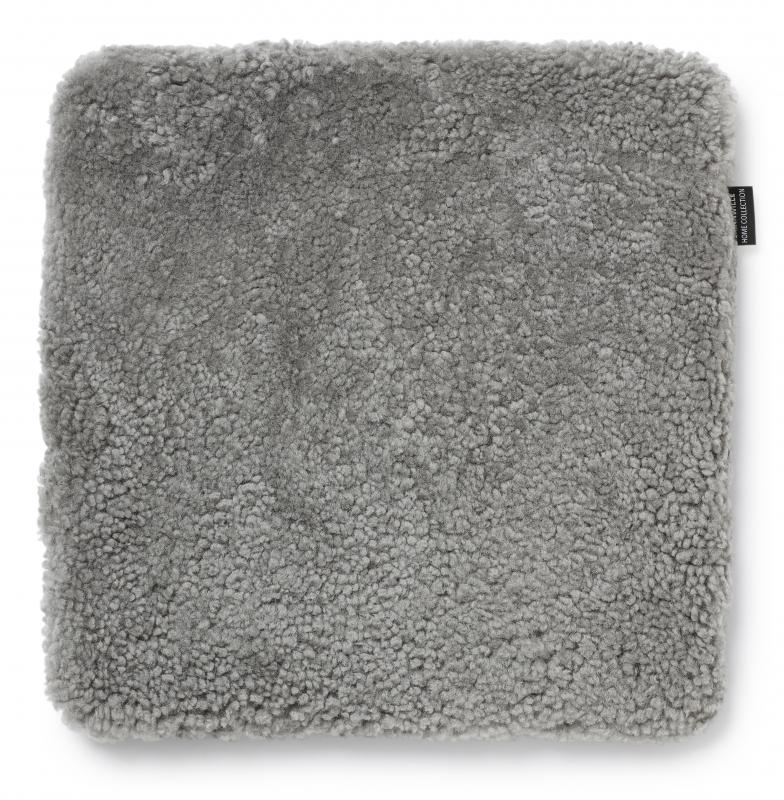 Curly Seat pad 40x40 - Natural Grey