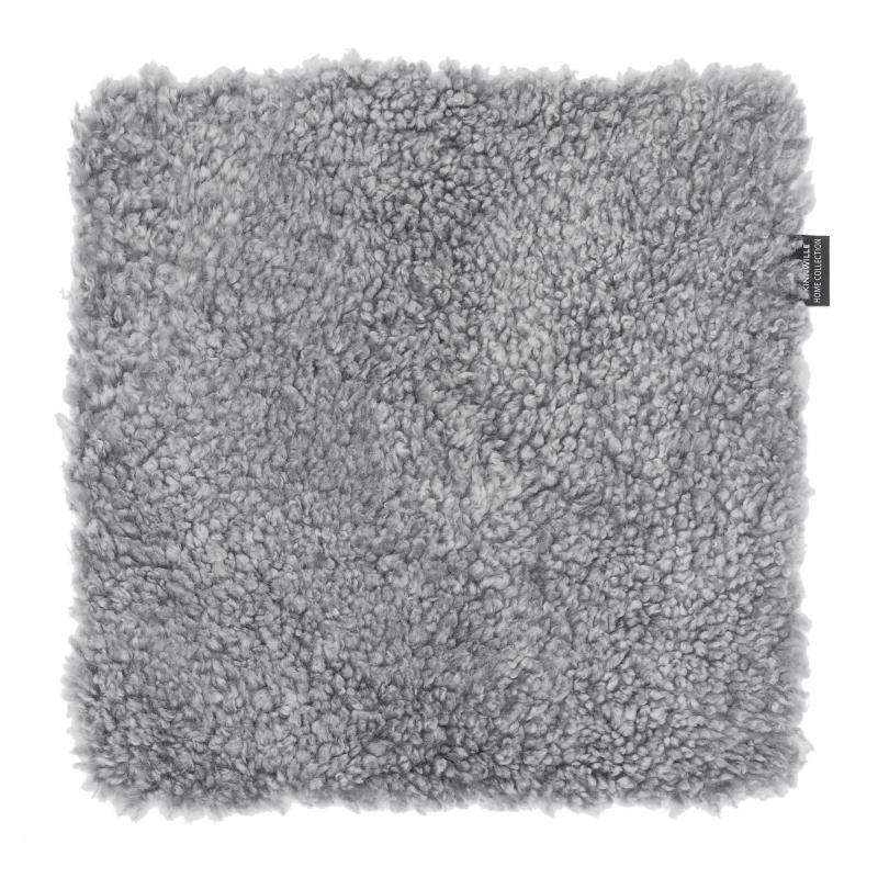Curly-R Seat pad 40x40 - Charcoal Silvergrey