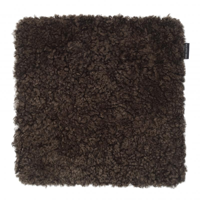 Curly Seat pad 40x40 - Brown