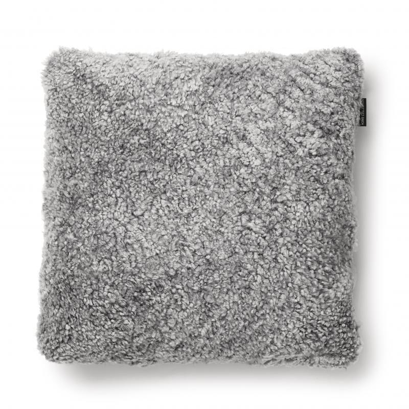 Curly Cushion cover 45x45 - Charcoal Grey Silver