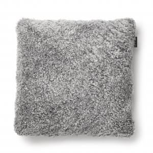 Curly Kissenbezug 45x45 - Charcoal Silbergrau