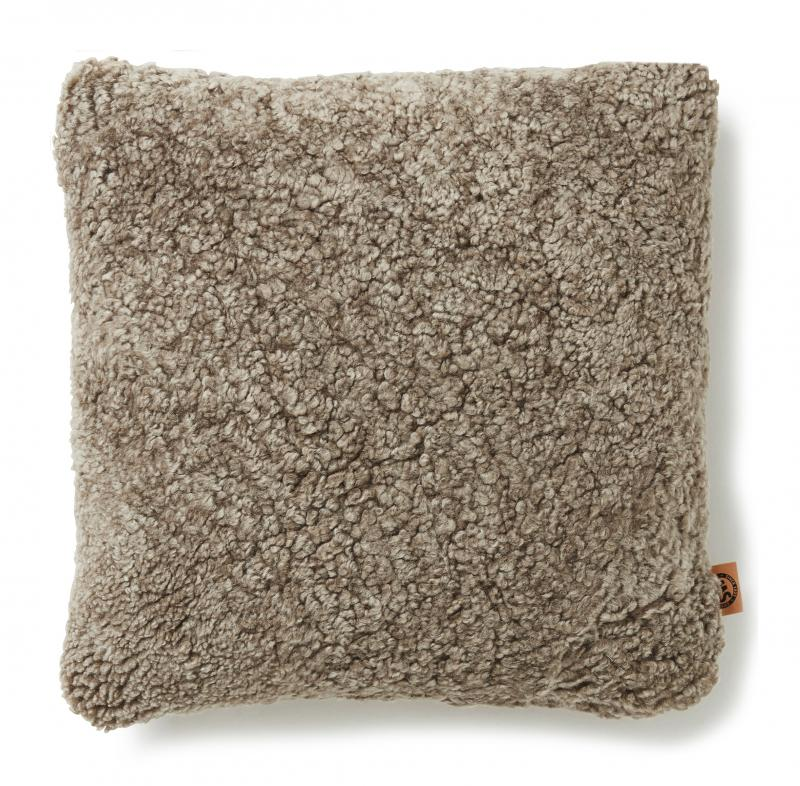 Curly Cushion cover 45x45 - Light Brown