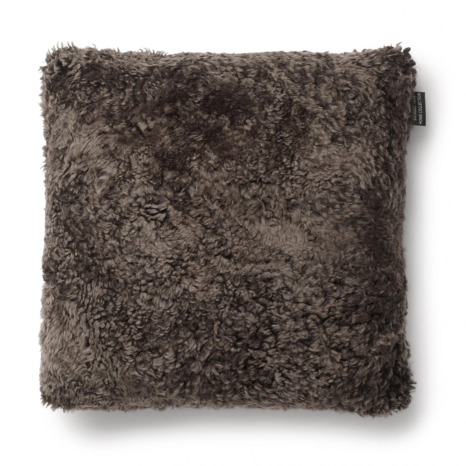 Curly Cushion cover 45x45 - Brown