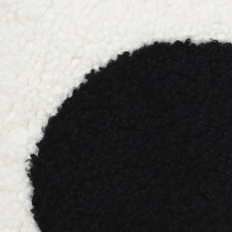 Curly Cushion cover 45x45 - White/Black