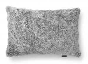 Curly Cushion cover 40x60 - Charcoal Grey Silver