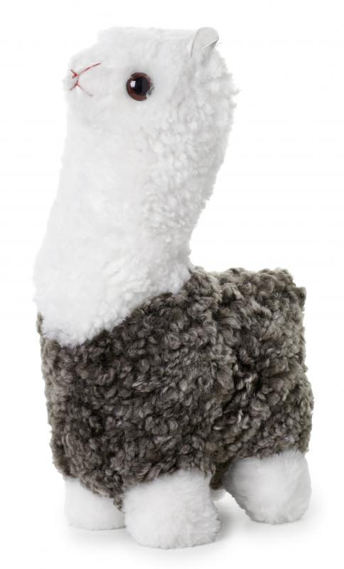 Curly Alpaca - Dark Beige/White