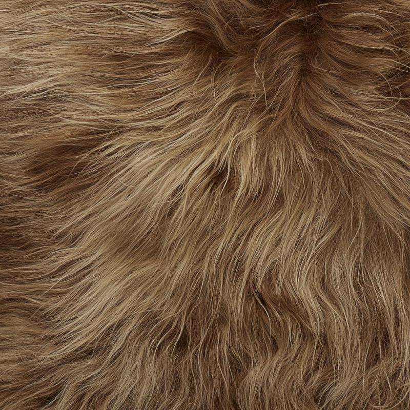 Molly rug. Sheepskin - Brown