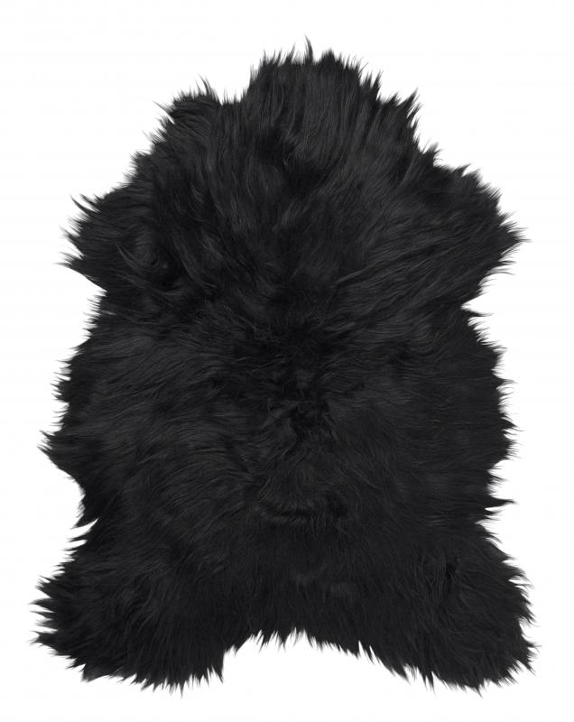 Molly rug. Sheepskin - Natural Black