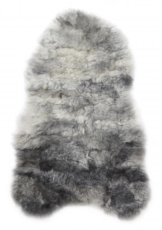Nelly rug. Sheepskin - Natural Grey Patchwork