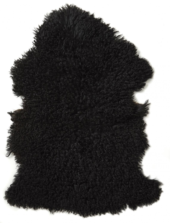 Ebony rug. Sheepskin - Natural Black