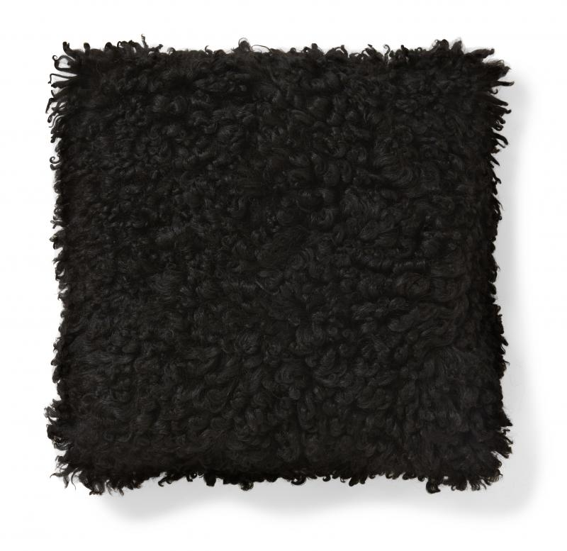 Ebony Cushion cover - Natural Black