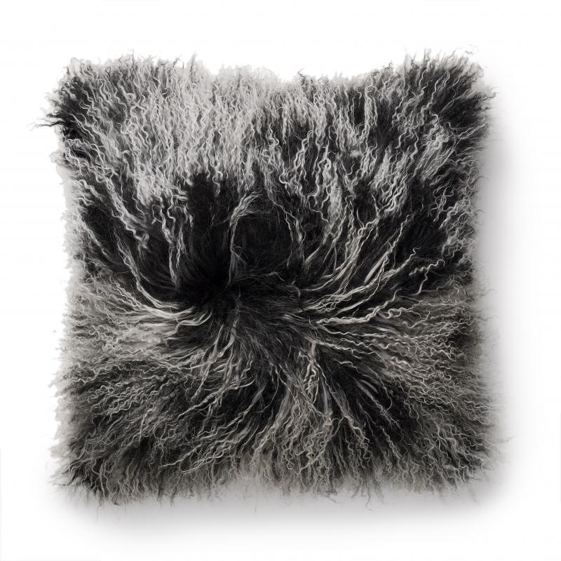 Shansi Cushion cover - Black Snowtop
