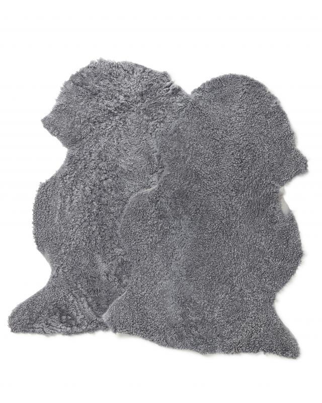 Curly-R Sheepskin - Charcoal Silvergrey
